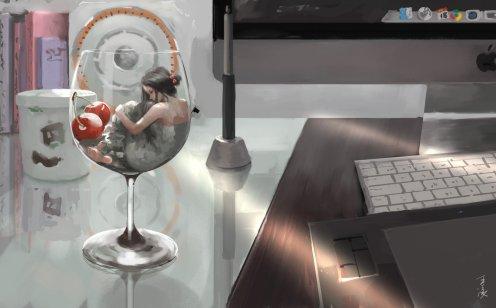 my_desk_by_wlop-d7ixmzj